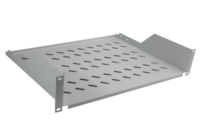 Cantilever modem shelf 350mm 2U height grey