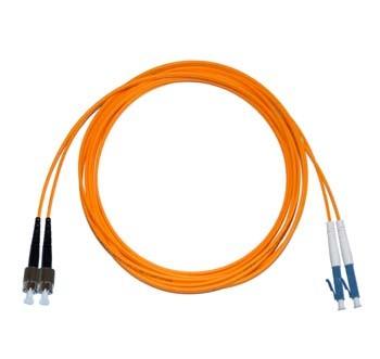 FC - LC Multimode fibre patch cord 50/125 OM2 Duplex 20m