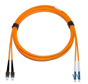 FC - LC Multimode fibre patch cable 62.5/125 OM1 Duplex 2m