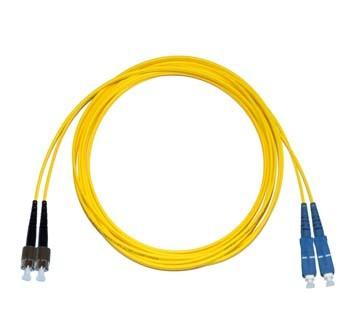 FC - SC Singlemode fibre patch lead Duplex 12m