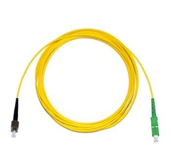 FC - SC/APC Singlemode fibre patch lead Simplex 20m