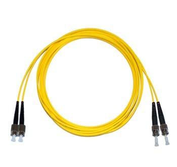 FC - ST Singlemode fibre patch cord Duplex 6m