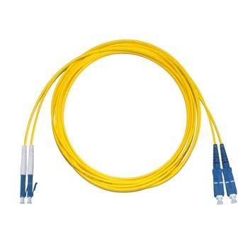 LC - SC Singlemode fibre patch lead Duplex 1.75m