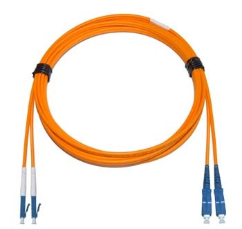 LC - SC Multimode fibre patch lead 50/125 OM2 Duplex 25m