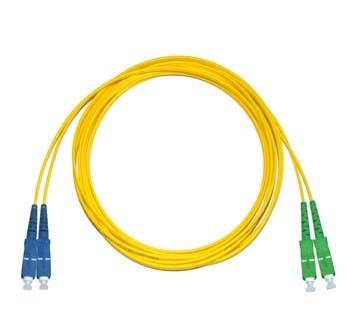 SC - SC/APC Singlemode fibre patch lead Duplex 20m