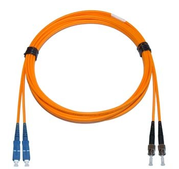 SC - ST Multimode fibre patch lead 62.5/125 OM1 Duplex 2m