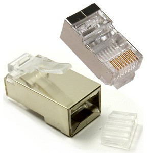 CAT6 STP Crimp Connector RJ45 Plug, Shielded