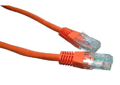Orange 1m Cat6 Ethernet cable - Patch cable RJ45 UTP
