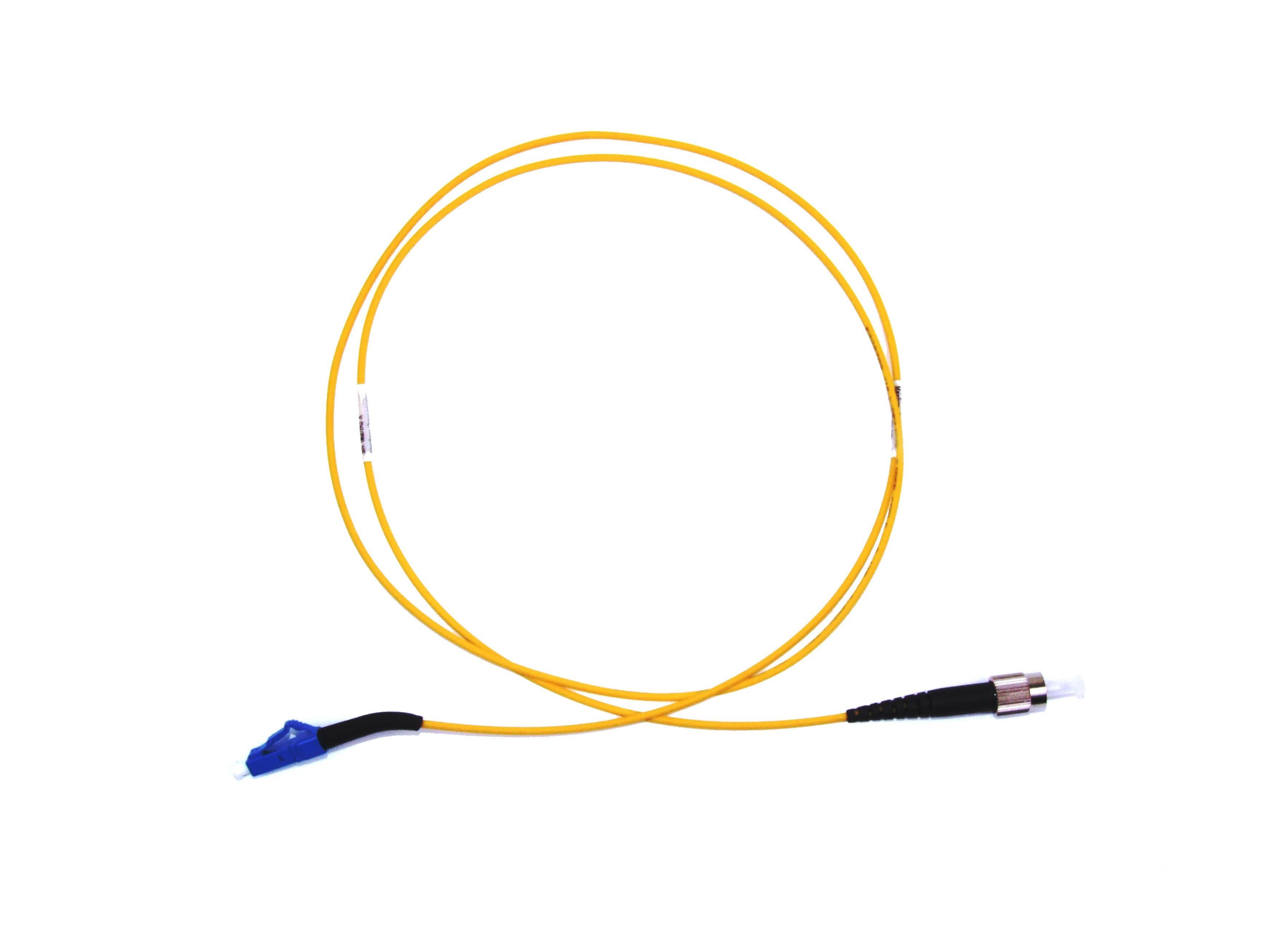 FC - LC 45° boot Singlemode fibre patch lead Simplex 1m