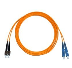 FC - SC Multimode fibre patch cable 62.5/125 OM1 1.6mm Duplex 1m