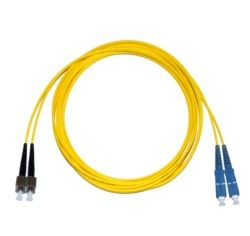 FC - SC Singlemode fibre patch lead  1.6mm Duplex 10m