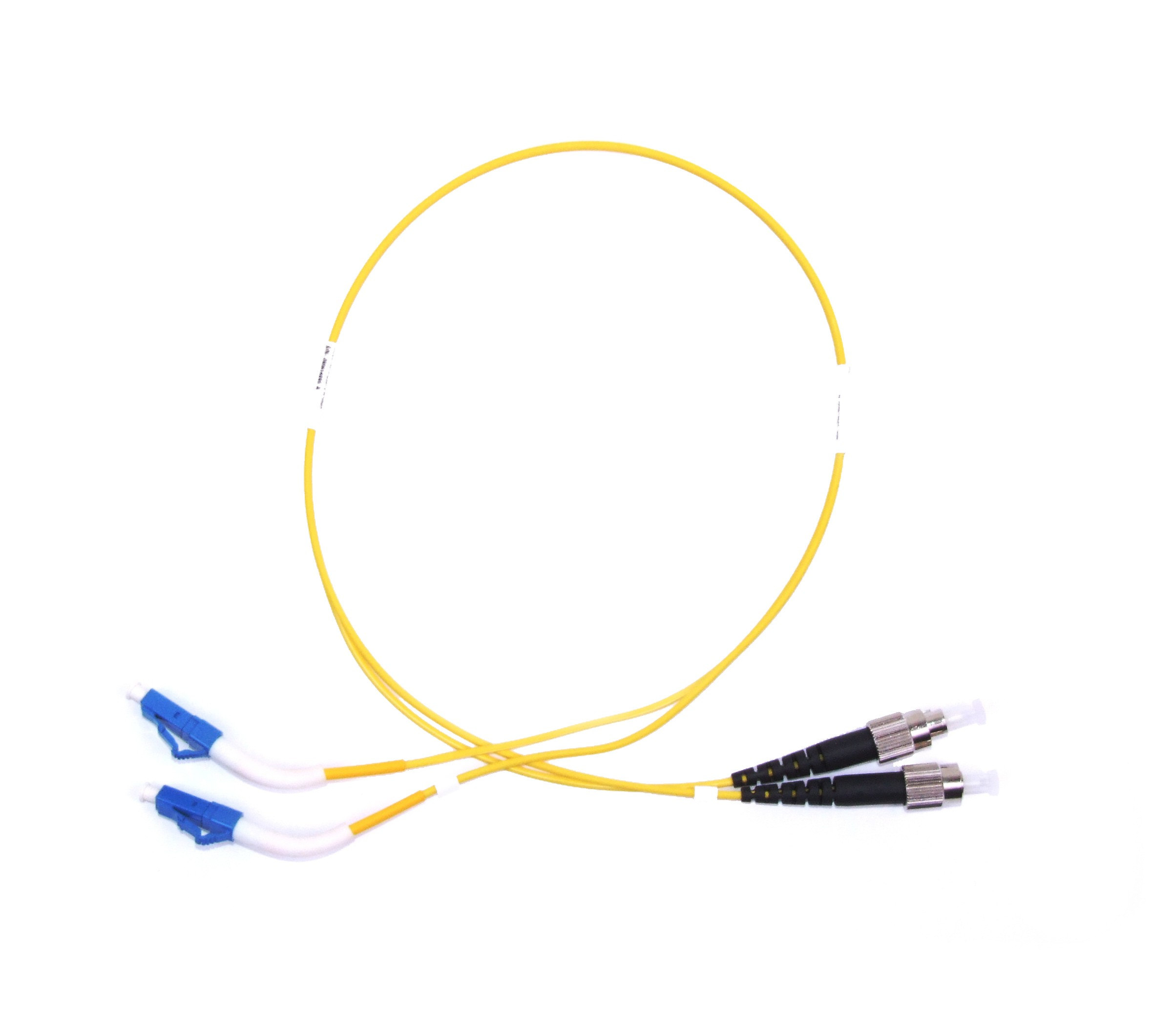 FC - LC 45° boot Singlemode fibre patch cable Duplex 2m