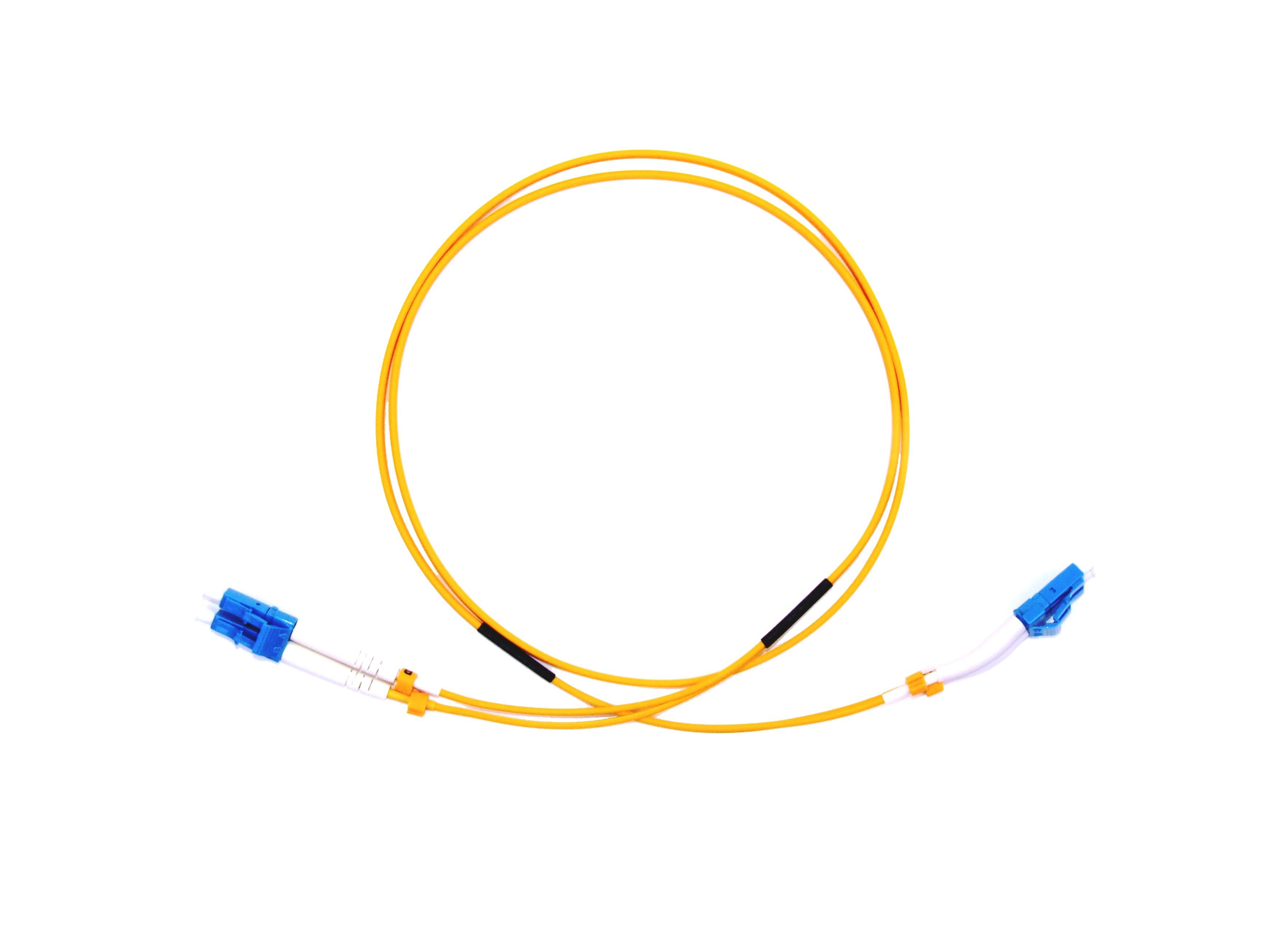 LC 45 deg boot - LC Singlemode fibre patch lead Duplex 25m