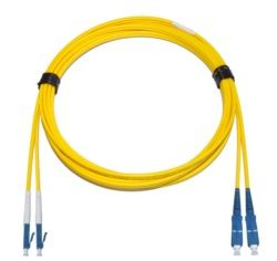 LC - SC Singlemode fibre patch cable  1.6mm Duplex 2m