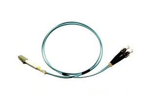 LC - ST Multimode fibre patch lead 50/125 OM3 Duplex 15m