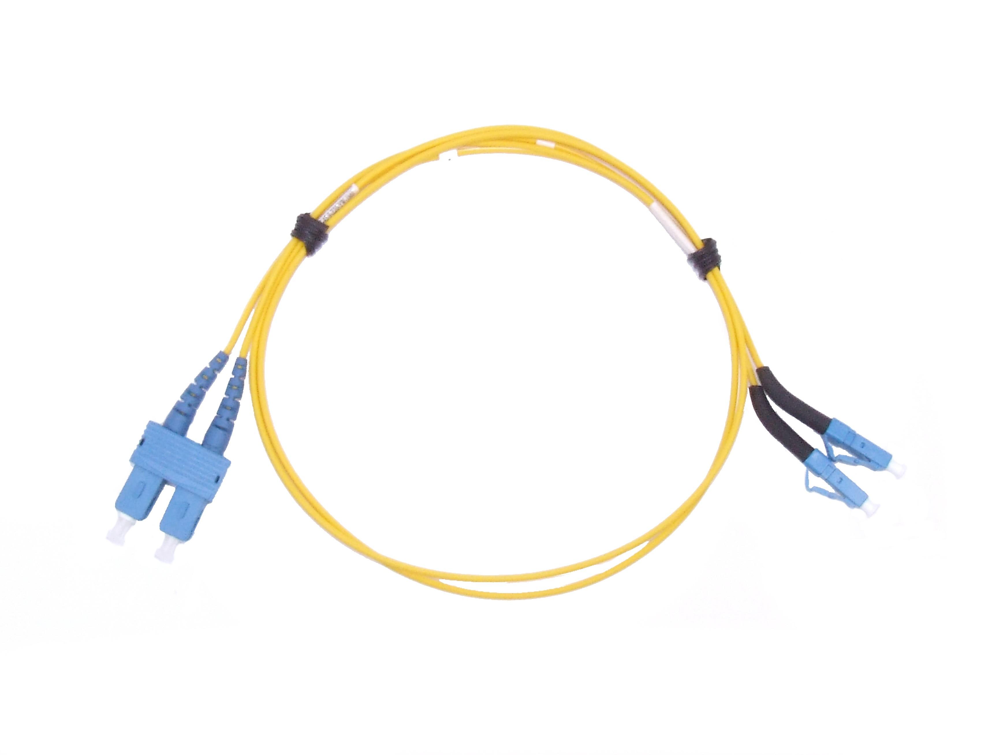 LC 45 deg boot - SC Singlemode fibre patch lead Duplex 1m