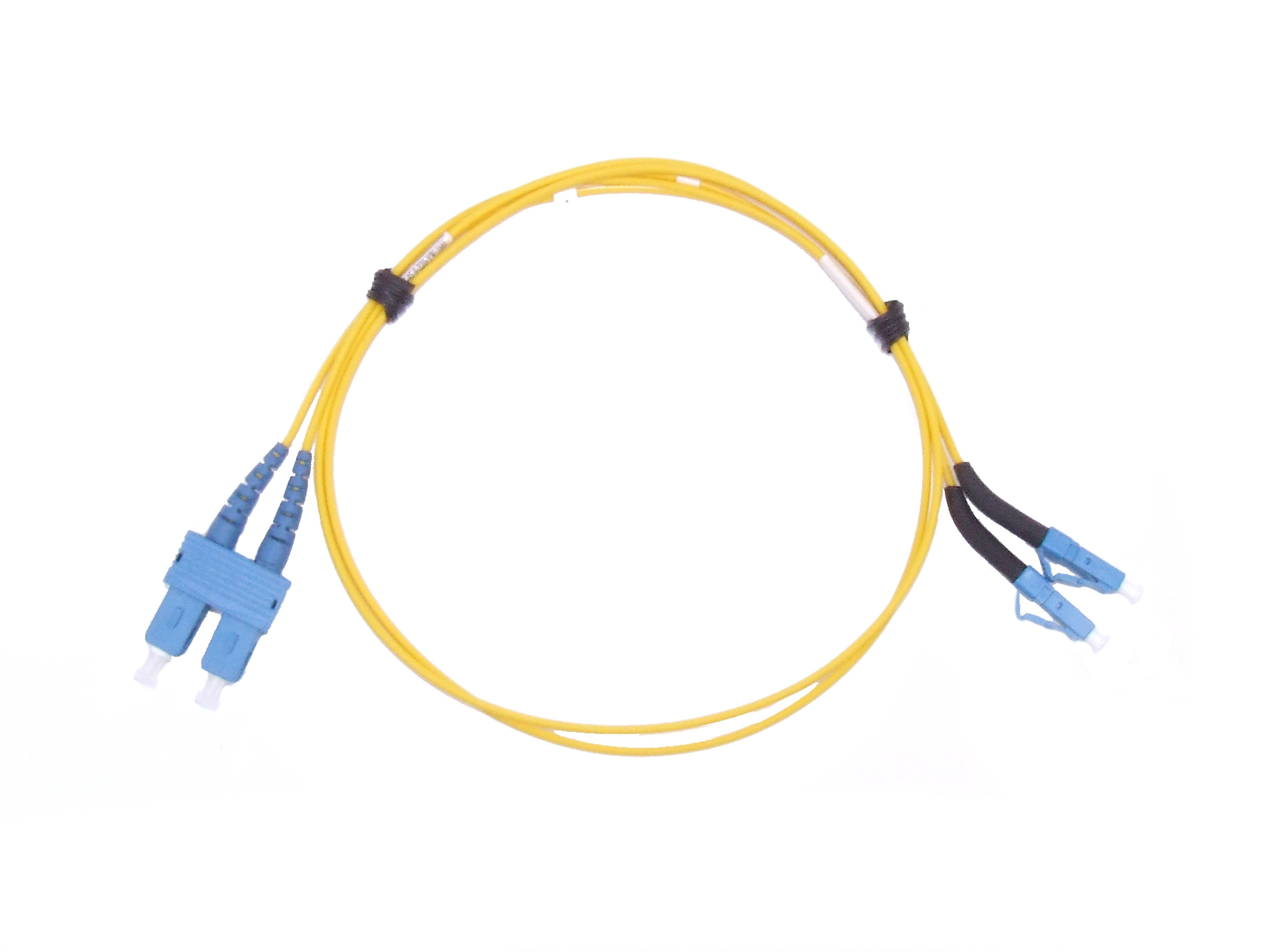 LC 45 deg boot - SC Singlemode fibre patch cable Duplex 2m