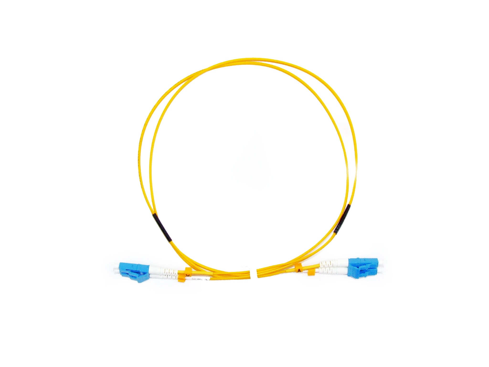 LC Short Boot  Singlemode fibre patch cable  1.6mm Duplex 2m