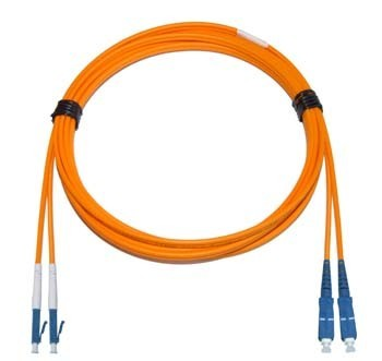 LC - SC Multimode fibre patch lead 62.5/125 OM1 1.6mm Duplex 15m