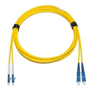 LC - SC Singlemode fibre patch cable  1.6mm Duplex 0.5m