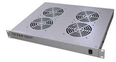 4 Way Rack Mount 1U Cooling Fan Tray (Ash Grey)