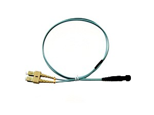 MTRJ - SC fibre patch lead multimode 50/125 OM3 Duplex 2m