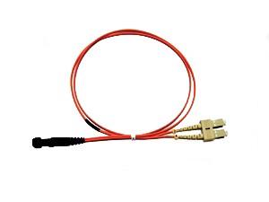 MTRJ - SC fibre patch lead multimode 62.5/125 OM1 Duplex 2m
