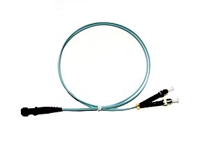 MTRJ - ST fibre patch lead multimode 50/125 OM3 Duplex 1m