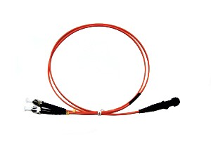 MTRJ - ST fibre patch lead multimode 62.5/125 OM1 Duplex 0.5m