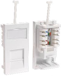 UTP RJ45 Cat6 Low Profile Shuttered Module