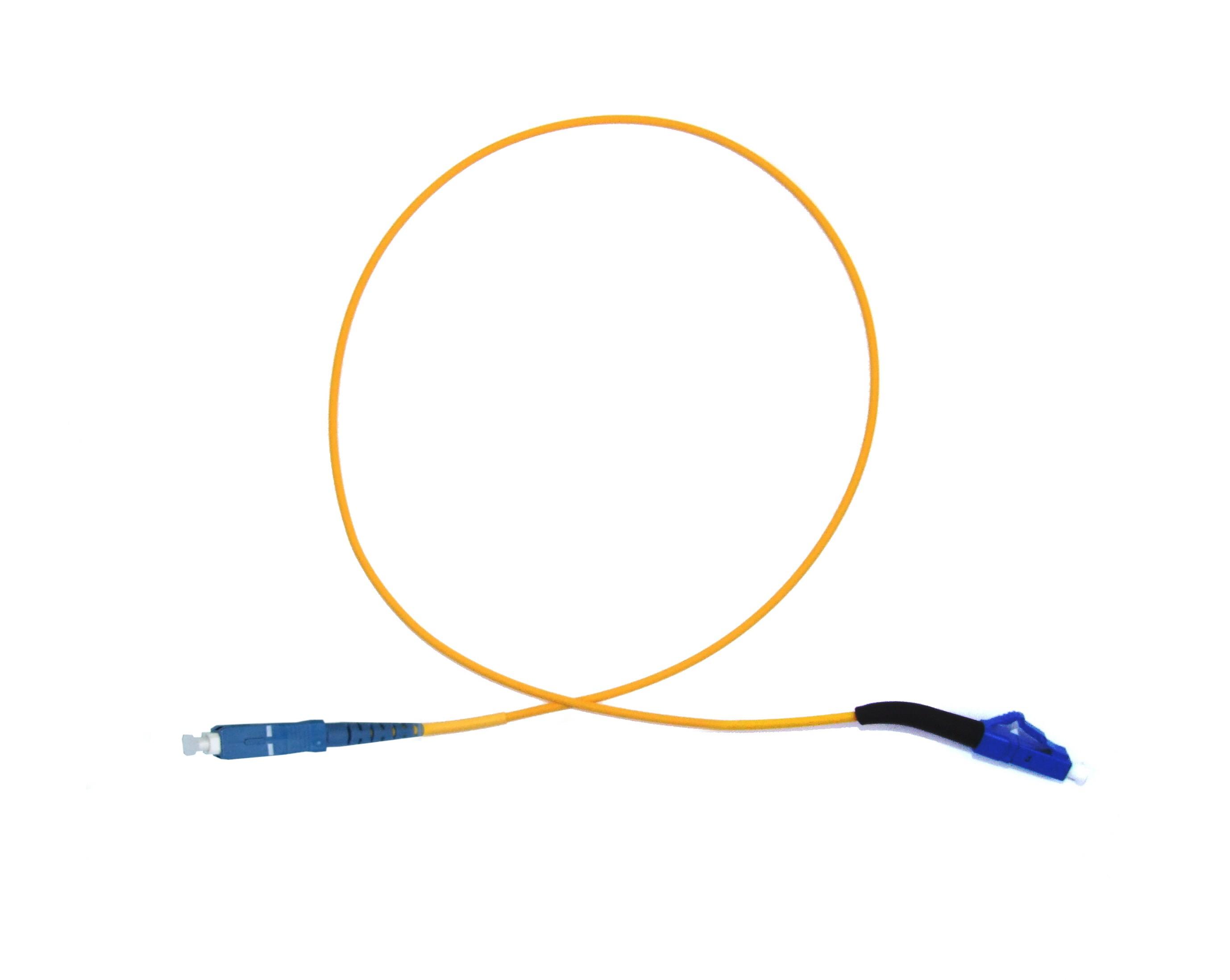 LC 45 deg boot - SC Singlemode fibre patch lead Simplex 8m