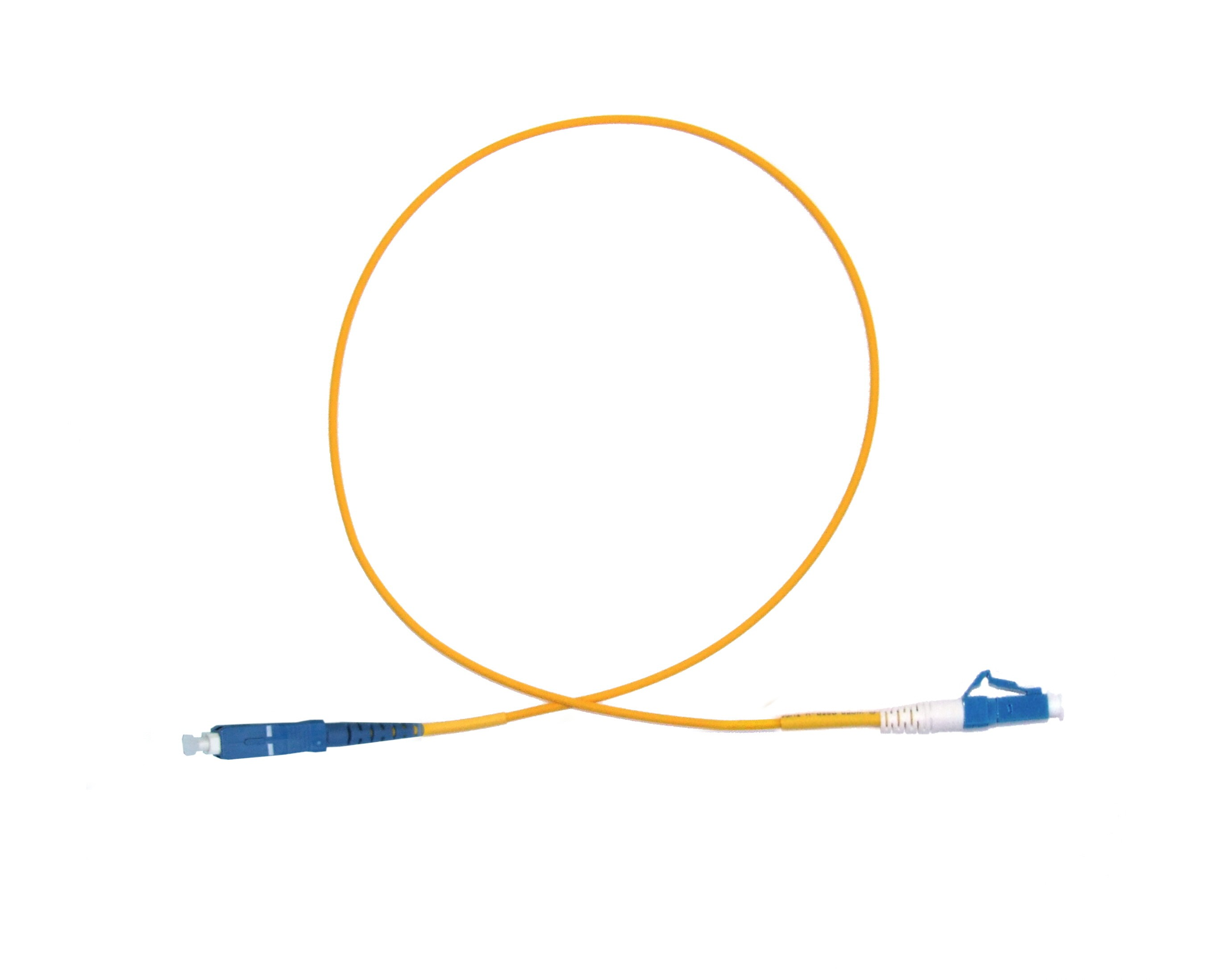 LC Short Boot - SC Singlemode fibre patch lead  1.6mm Simplex 15m