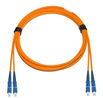 SC - SC Multimode fibre patch lead 62.5/125 OM1 1.6mm Duplex 2m