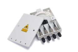 4 Way ST Multimode Optical Fibre Termination Box - Metal