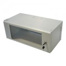 "4U Wall Mount Data Cabinet - 19"" Rack Grey 530mm x 270mm"