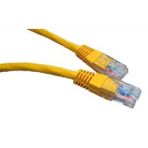 Yellow 1m Cat6 Ethernet cable - Patch cable RJ45 UTP