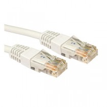 White 0.5m Cat5 Ethernet cable - Patch cable RJ45 UTP