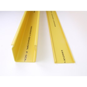 Solid Duct and Lid 100mm x 100mm 1.8M Yellow