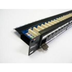 24 Port CAT5e 1U 90deg with cable management UTP Patch Panel