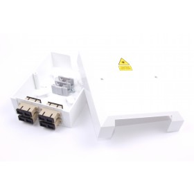 4 Way SC Multimode Optic Fibre Termination Box - adaptors & pigtails
