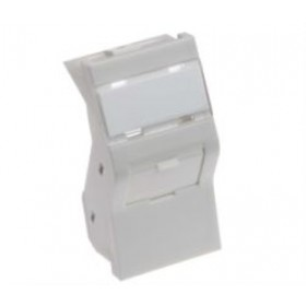 50 X 25mm Shuttered Angled Keystone Module White