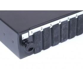 SC duplex / LC quad fibre patch panel Unloaded sliding 24 port 1U
