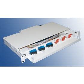 12 Port LC Fibre Splice and Patch Panel Sliding
