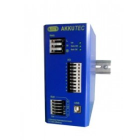 AKKUTEC 2405 USB 24V DC 5A Battery buffered power supply