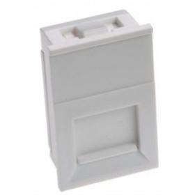 25 X 50mm Shuttered Euro Keystone  Module White