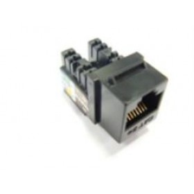 CAT5e Keystone Jack 90 Degree 110 UTP - Black Disable