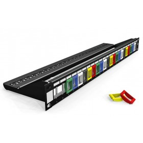 Brand-Rex 24 Port Coloured Insert Snap-In Jack Patch Panel
