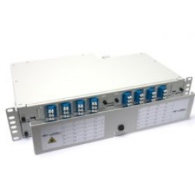 Fibre splice Patch Panel 2U 48 Way LC Singlemode - adaptors & pigtails