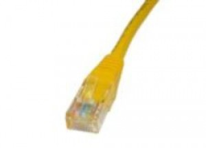 Yellow 1m Cat5 Ethernet cable - Patch cable RJ45 UTP