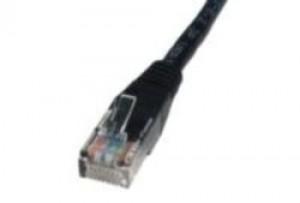 Black 15m Cat5 Ethernet cable - Patch cable RJ45 UTP